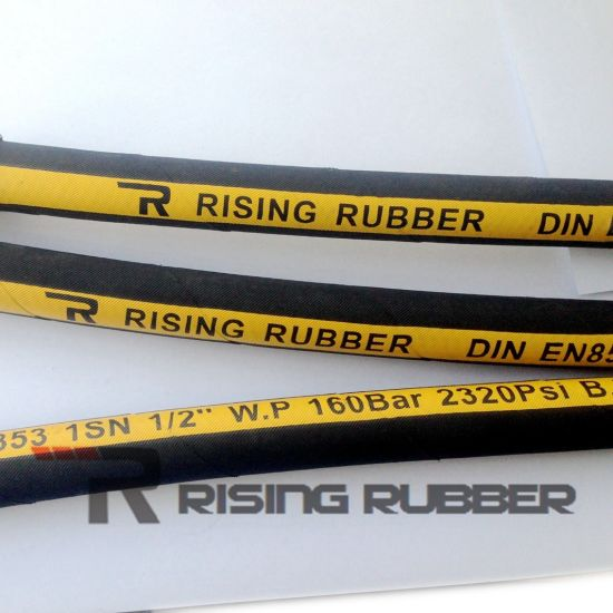 Rubber Hydraulic Hose with Smooth or Wrapped Surface pictures & photos
