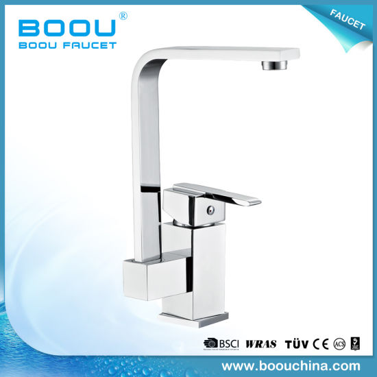 China Boou New Style Deck Mounted Side Long Neck Kitchen Faucet