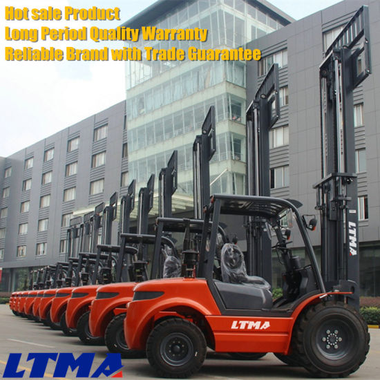 New 2t Mini Diesel All Terrain Forklift for Sale pictures & photos
