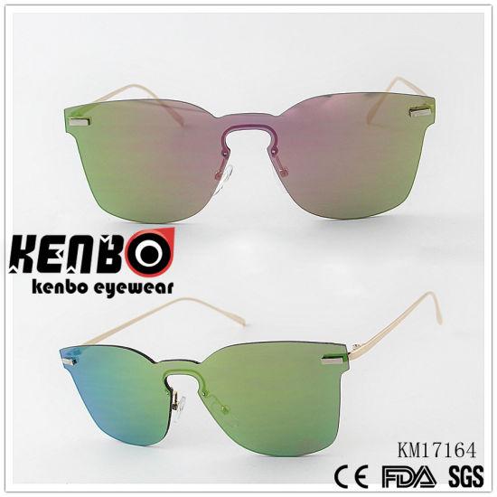 c4c6444e20e9 China One Piece Lens Sunglasses Without Fram Km17164 - China ...
