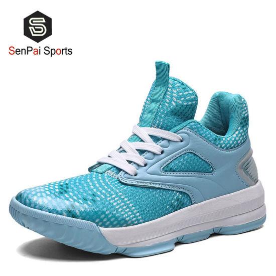 The Men New Design Basketball Lt. Blue Shoes Sport Sneakers