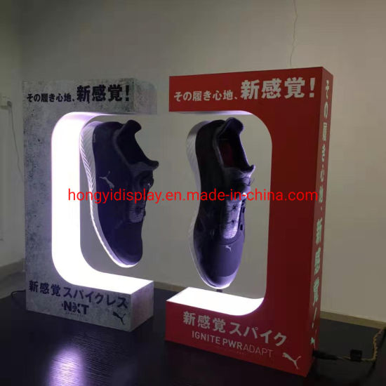 New Hot Product Floating Shoes Display Stand/ Magnetic Acrylic Poster Holder for Buyers