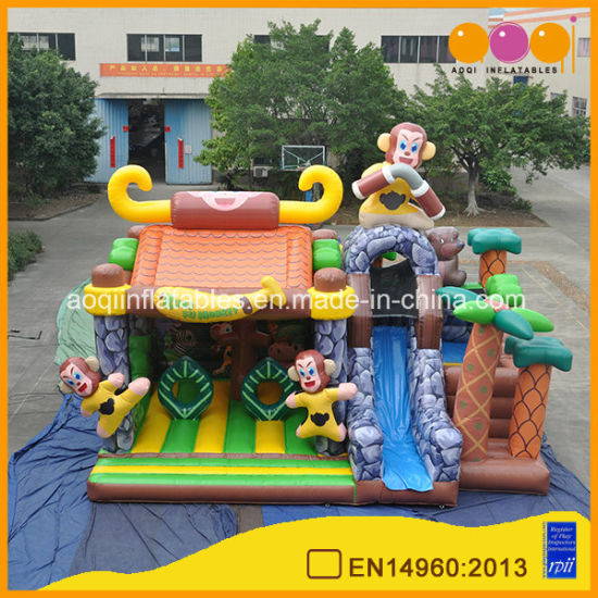 Giant Inflatable Jumping Toy Kung Fu Monkey Bouncer for Kids (AQ01804)