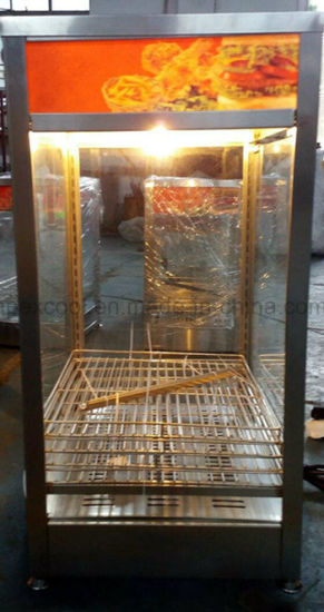 Four Sides Glass Door Warmer Case with Shelves Dessert Display Warmer Showcase pictures & photos