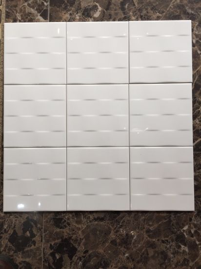 "8""X8""/20X20cm White Glossy Subway Tiles for Kitchen and Bathroom Backsplash Wall pictures & photos"