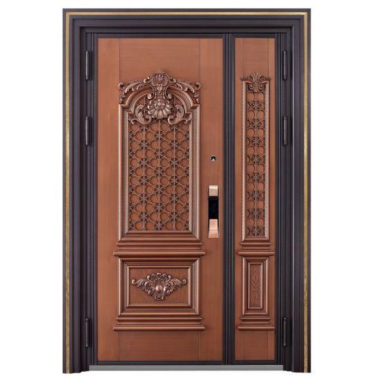 Red Bronze Metal Door Design Italy Stainless Steel Armored Door  sc 1 st  Foshan Qi\u2032an Fireproof Shutter Doors Co. Ltd. & China Red Bronze Metal Door Design Italy Stainless Steel Armored ...