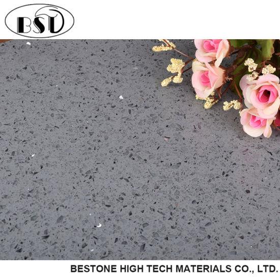 China Gray Sparkle Quartz Floor Tile - China Quartz Tile, Quartz ...