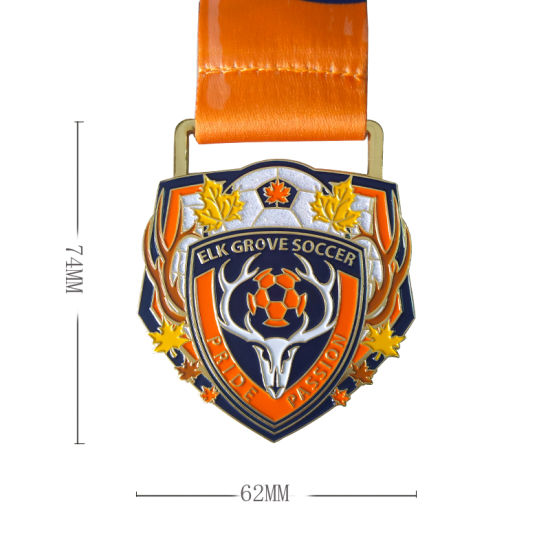 OEM Custom Design Soft Enamel Soccer Medal pictures & photos