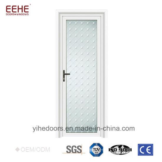 Aluminium Frame Half Glass Flush Doors Design - China Aluminium ...