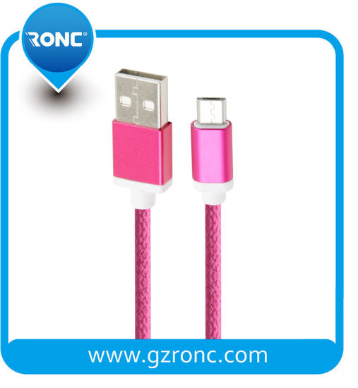 Top Quality Nylon Braided USB Data Cable for iPhone Samsung Andriod pictures & photos