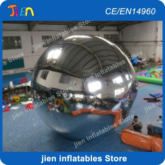 PVC Inflatable Mirror Balloon, 3m/4m/5m Inflatable Mirror Ball Helium Balloon for Stage Decoration, Sliver Color Balloon pictures & photos