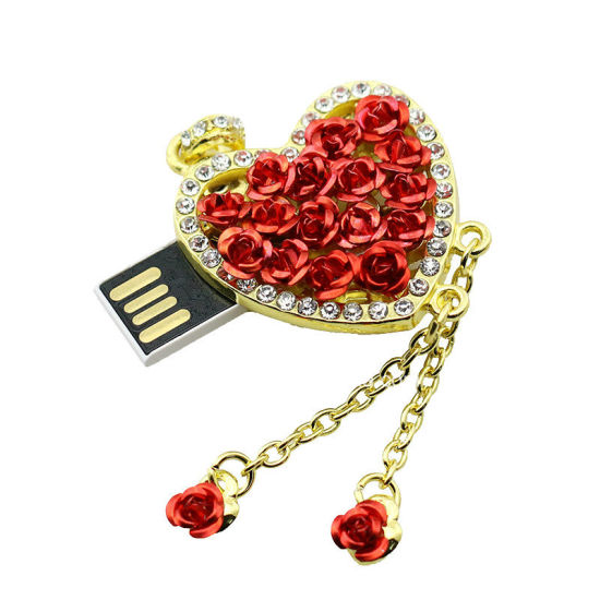 Heart Shape USB Flash Disk jewellery Metal Mini USB Stick pictures & photos