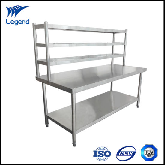 2 Tiers Stainless Steel Working Table with Cheap Price pictures & photos