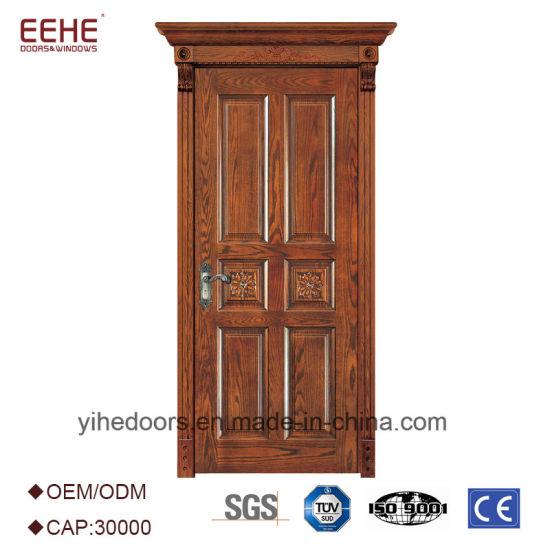 Modern Design Solid Wood Door Interior Wood Door