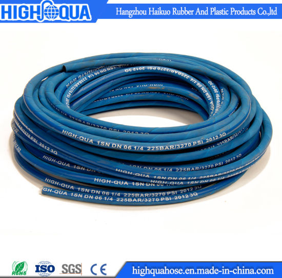 Oil Resistance High Pressure Hydraulic Hose En853 1sn / SAE R1at