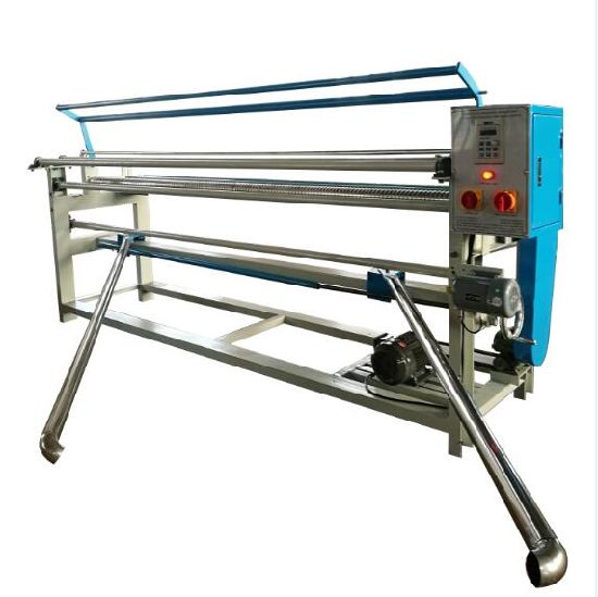 Knitted and Woven Fabric Winding Roller Machine with Fabric Alignment