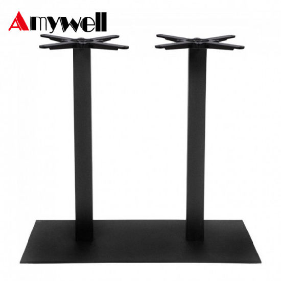 China Dining Room Furniture Marble Metal Square Cast Iron Restaurant - Cast iron restaurant table bases