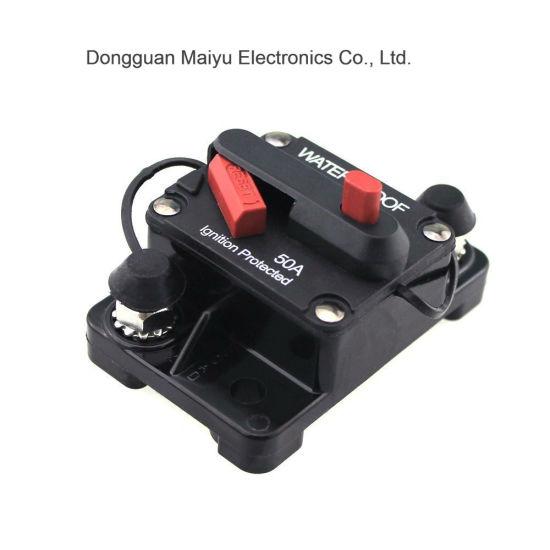100A Amp Circuit Breaker In-line Fuse 12 Volt 12V Manual Reset Compact Design US