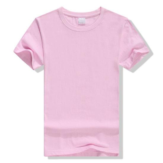 Cheap Promotional T-Shirt Clothes Custom Logo Printed 15% Cotton 85% Poly-Blended Fashion Sports Wear Women′ S&Men T-Shirt