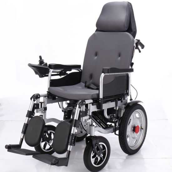 Light Remote Control Power Wheelchair Foldable Aluminum Alloy Electric Wheelchair