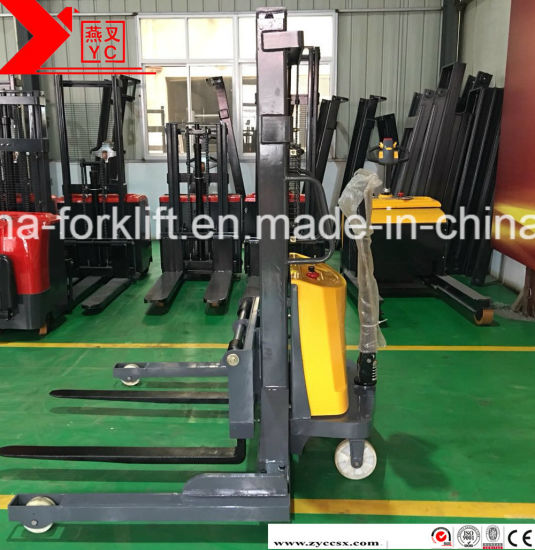 Semi Electric Straddle Leg Type Fork Lift Stacker