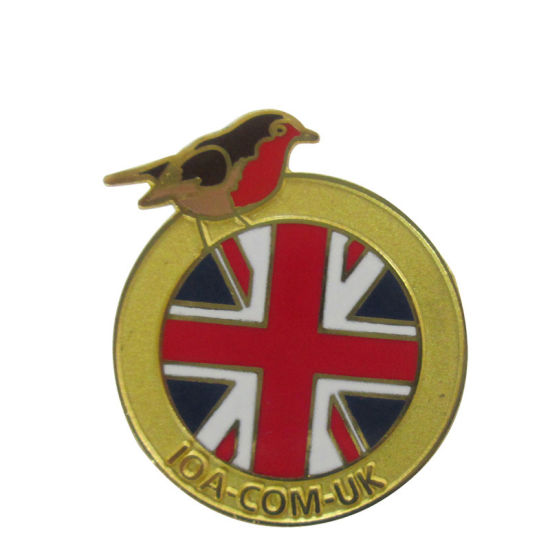 Chinese Custom Gold Plated Promotinal Gift UK Badge Lapel Pin (205)