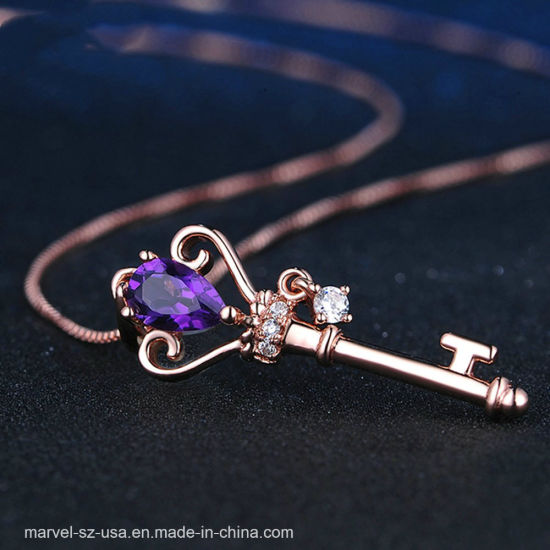 925 Sterling Silver Crystal Jewelry Girlfriend Gift Pendant Necklace