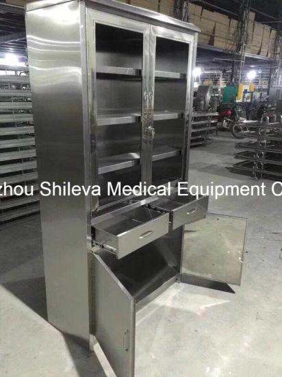 Medical Furniture /Hospital Trolley/ Clinic Instrument Storage Cabinet
