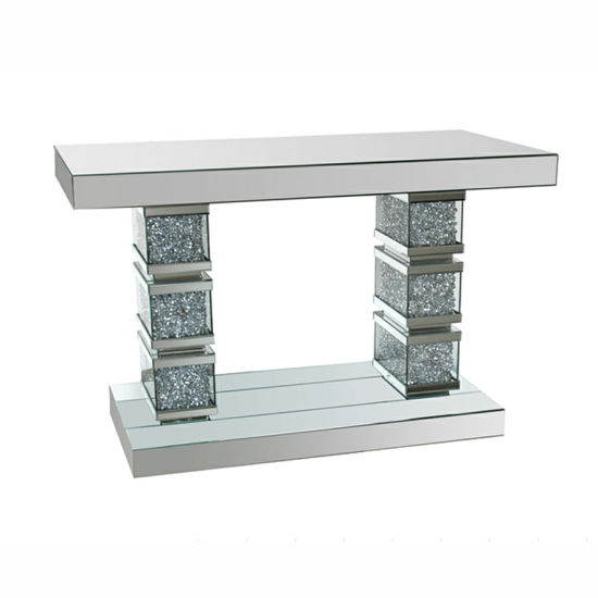 Diamond Crushed Sparkle Mirrored Console Table