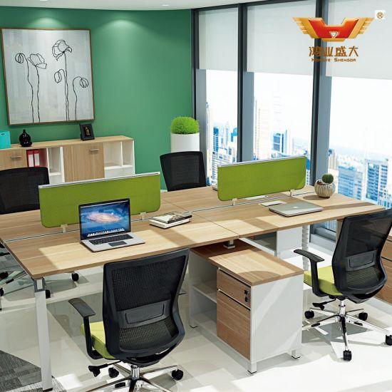 Modular Open 4 Seat Office Workbench with Metal Leg (H85-0252)