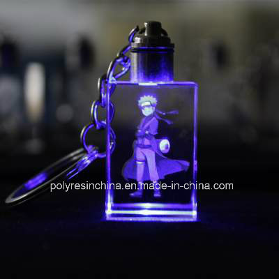 Crystal Key Chain with LED Light pictures & photos