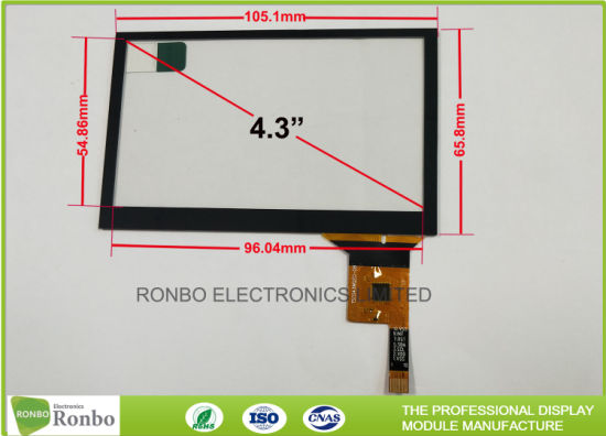 china thin thickness projected capacitive touch panel i2c interface