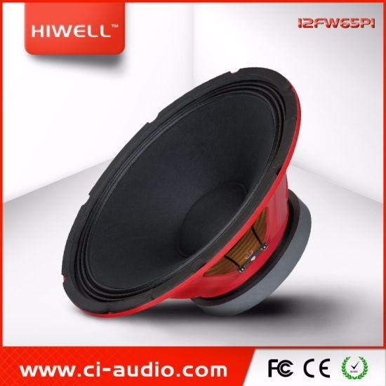 PRO Audio 12'' Ferrite Professional Loudspeaker, Portable Speaker Red Steel Chassis, 2.5'' Voice Coil Woofer.