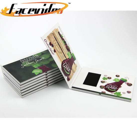 China Custom And Invitation Printing Lcd Greeting Card Video Module