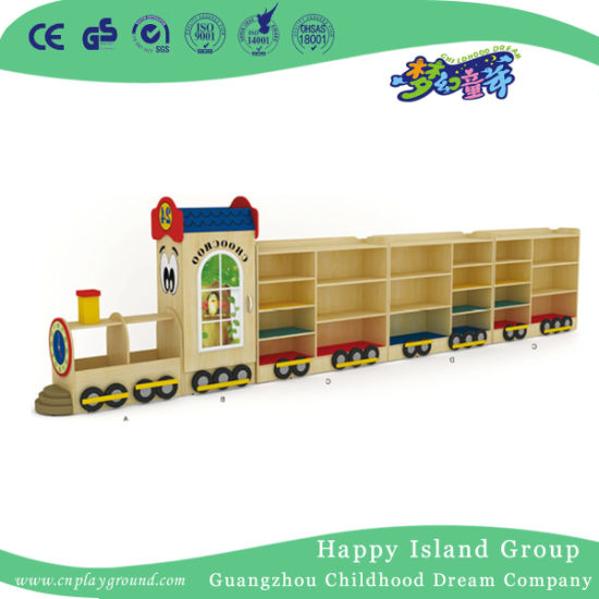 Special Design Train Modeling Toy Storage Cabinet for Kids Furniture (HJ-6704)