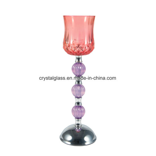 Hand Made Decoration Glass Candle Holder pictures & photos