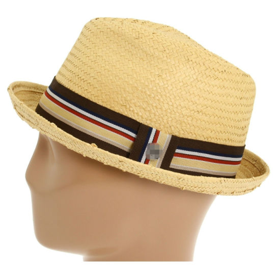 cf6eb2f0aa8 Summer Paper Straw Hat Trilby Gangster Cap Beach Sun Hats Straw Men Jazz  Hats