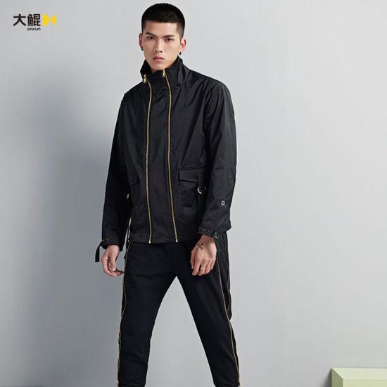 Chinese Famous Brand Dakun Hip Hop Style Outside Double Zipper Jacket Coat