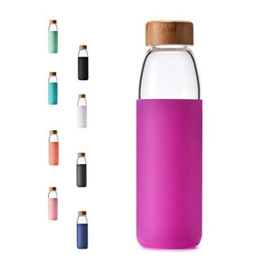 Food Grade No Plastic Glassware Personalized Glass Water Bottle