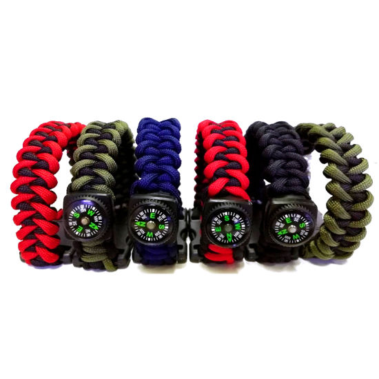 Promotional Gift USB Pen Drive 8GB 16GB Outdoor Rope Bracelet USB Flash Drive with Compass