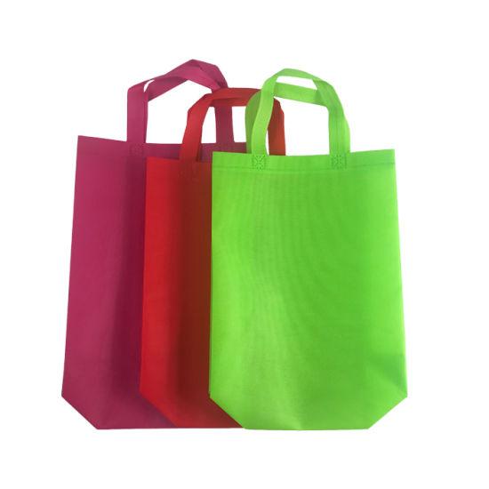 PP Nonoven Fabric Material Tote Bag Non-Woven Tote Shopping Bags
