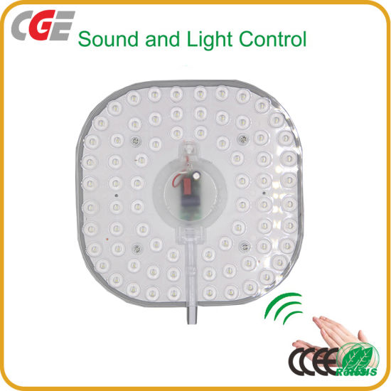 Factory Direct Sale 12W 24W 36W Acoustooptic Control Square Shape 140mm 150mm 190mm LED Module 220V for Ceiling Light