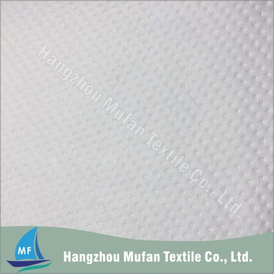 Clip Spot Pattern Common Type Vortex Spinning Spun Polyester Fabric for Pillow Cover or Mattress Ticking