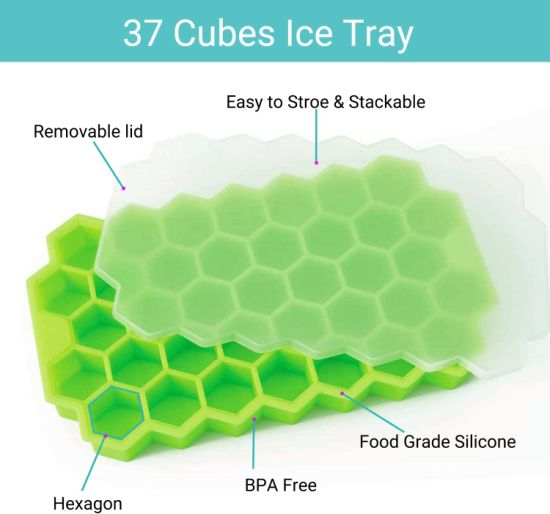 Silicone Ice Cube BPA Free Ice Cube Trays for Chilled Drinks & Cocktails