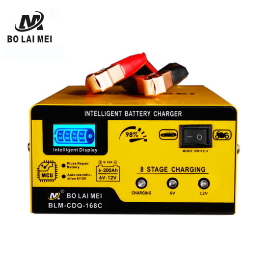 Power Max 6 V/12 V 200 Ah DC Battery Charger Maintainer