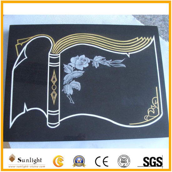 Shanxi Black Book Shaped Plaque Memorials, Plaque Headstones/Tombstone