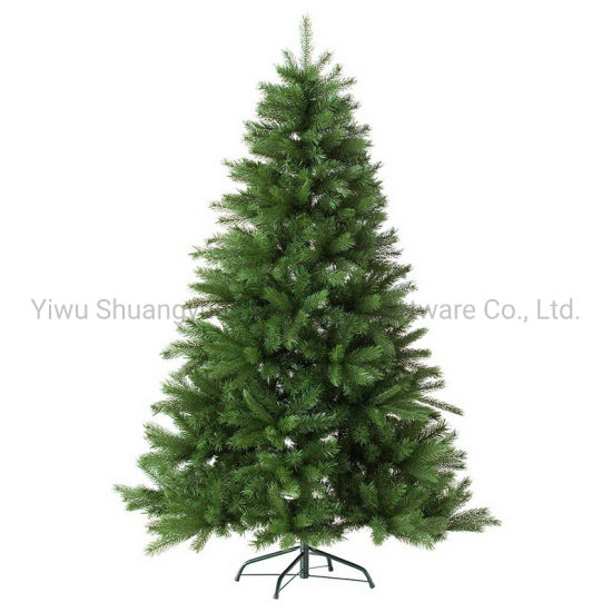 120-300cm Green PE PVC Artificial Christmas Tree with Leaf Pinecone Snow Red Berry Home Decoration Christmas Gift