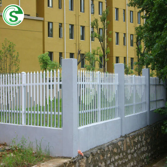 Europe Quality Vinyle Picket PVC Fence/Gate for Residential House/Factory