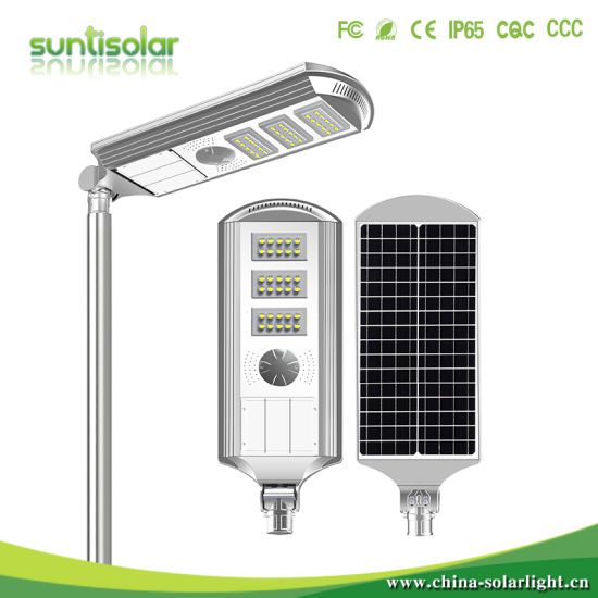 Outdoor IP65 Waterproof 20W 30W 40W 50W 60W Integrated All in One Solar LED Street Lighting Lamp