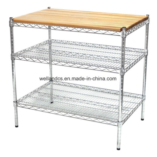 China NSF Stainless Steel Wire Shelving Commercial Kitchen Prep ...